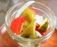 自然栽培夏野菜を使った簡単ピクルス
