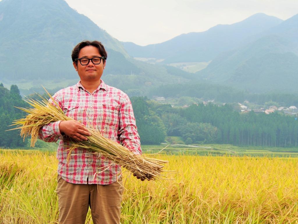 九州熊本県南阿蘇村大森博さん無肥料無農薬オーガニック自家採種自然栽培米ササニシキ