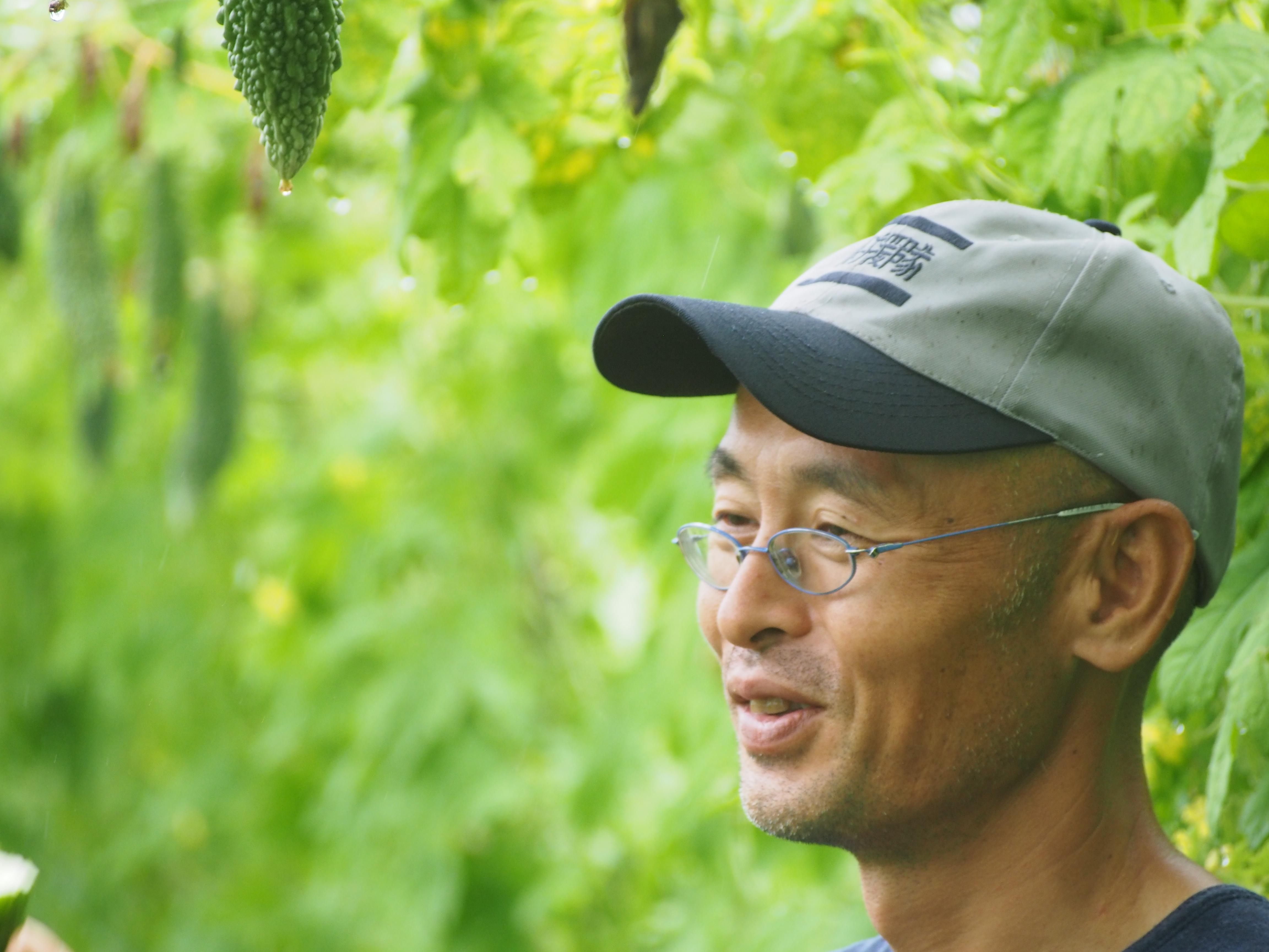 岡部さんの自然栽培ゴーヤ