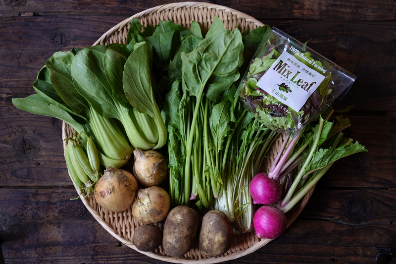 九州産自然栽培 お米3キロ お野菜8品目のお試しセット